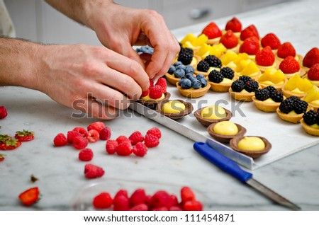 A pastry making - stock photo