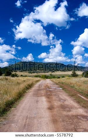 A pasture near Chama, NM. - stock photo