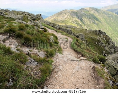 A path along Mt. Washington in northern New Hampshire - stock photo