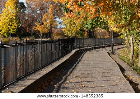 A path in Central Park in autumn