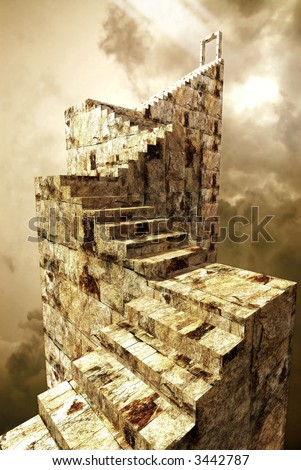 A path to heaven gate - stock photo