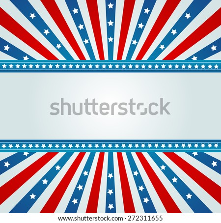 A patriotic background for Fourth of July - stock photo