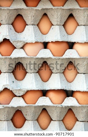 a pattern of packs of egg - stock photo