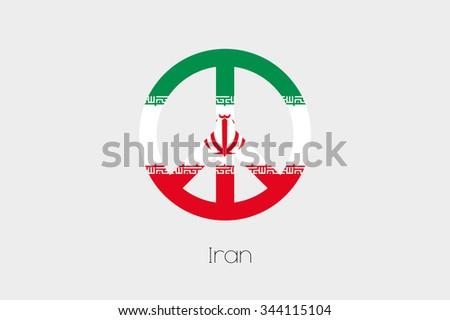 Peace Symbol Flag Iran Stock Illustration 344115104 Shutterstock