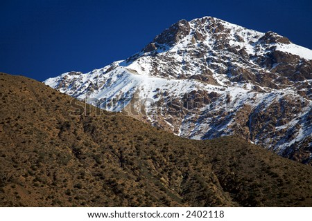A peak in the High Atlas range, Morocco. - stock photo