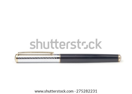 A pen isolated on the white background. - stock photo