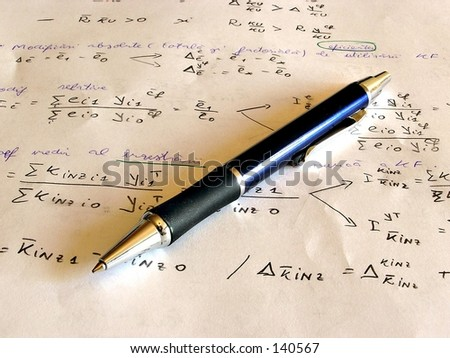 A  pen with page in background - stock photo
