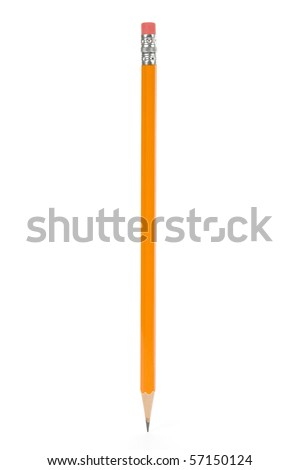 a Pencil with white background - stock photo