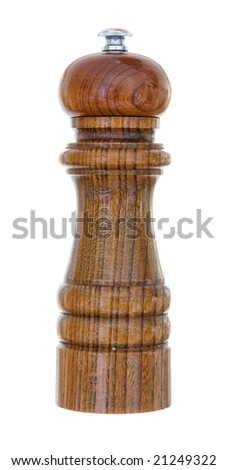 A pepper grinder isolated on a white background