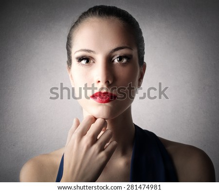 A perfect face - stock photo