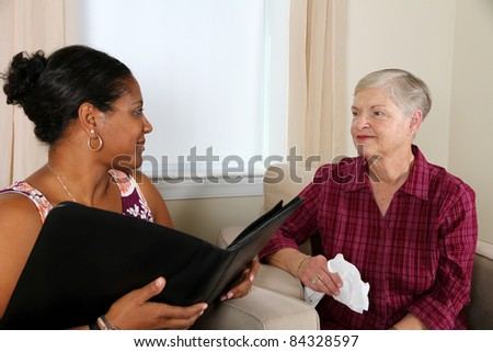 A person going through their counseling session - stock photo