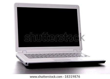 a personal computer isolated on white background