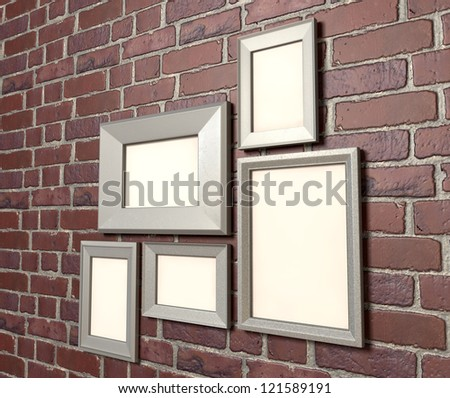 Perspective View Arrangement Five Blank Metal Stock Illustration ...