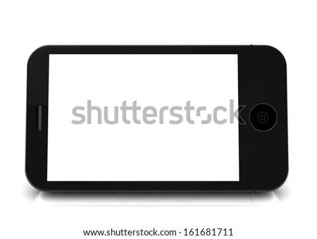 a phone blanko stand horizontally - stock photo