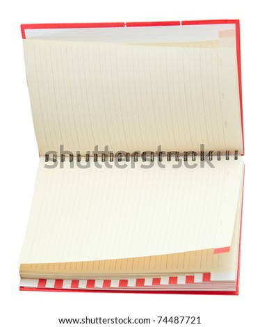 A phone book isolated on a white background - stock photo