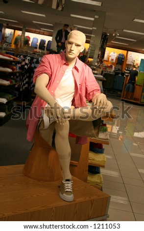 A phot of a male fashion mannequin - stock photo