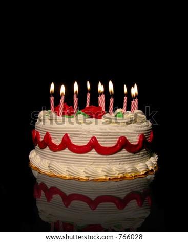 A photo of a birthday cake - stock photo