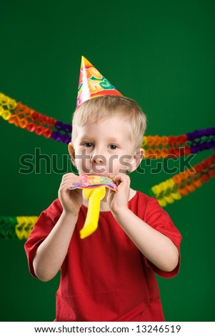 A photo of a boy on birthday party