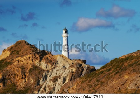 A photo of a Light house in New Zealand - stock photo