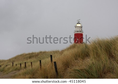 A photo of a lighthouse on Texel