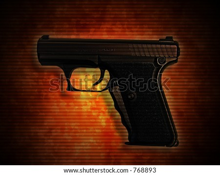 A photo of a 9mm handgun - stock photo