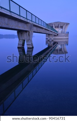A photo of a reservoir tower - stock photo