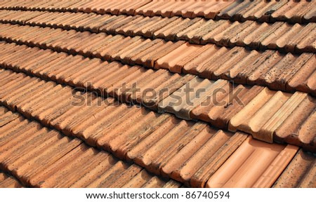 A photo of  a roof. - stock photo