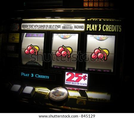 A photo of a slot machine - stock photo