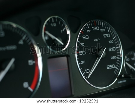 A photo of a speed indicator - stock photo