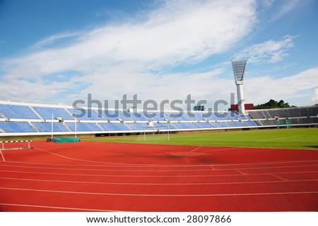a photo of a sports stadium - stock photo