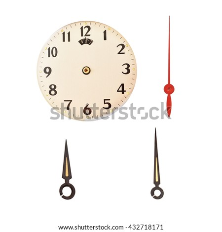 A photo of a typical office white clock  face and pointer  - stock photo