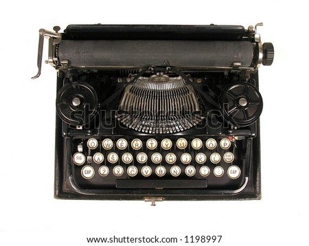 A photo of a vintage typewriter - stock photo
