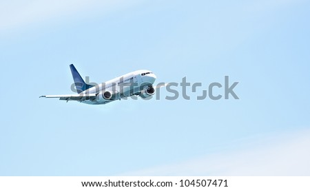 A photo of an airliner - stock photo