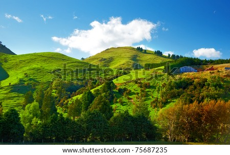 A photo of Beautiful landscapes of New Zealand - stock photo