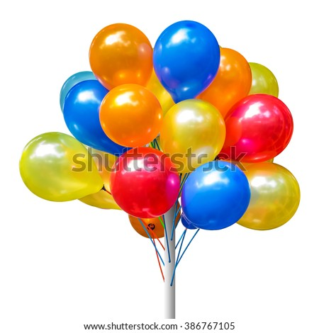 a photo of colorful balloon group