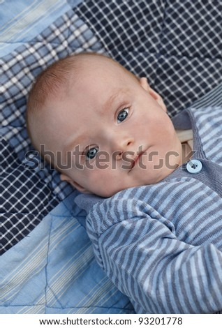 A photo of  cute baby boy - stock photo