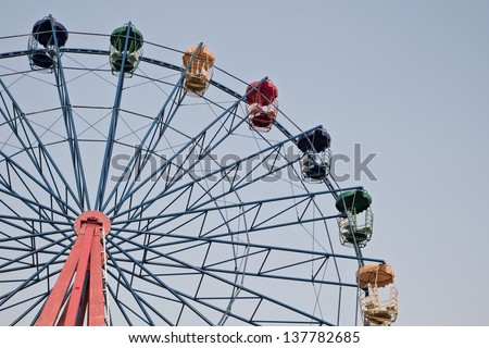 a photo of ferris wheel in vintage style