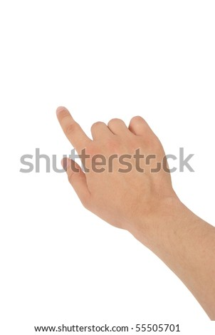 a photo of hand with clipping paths - stock photo