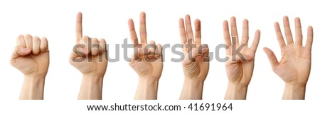 A photo of hands, counting abstract