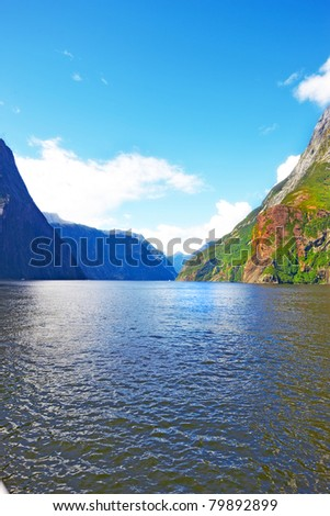 A photo of Milford Sound. South Island. New Zealand