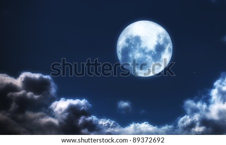 A  photo of moon and clouds