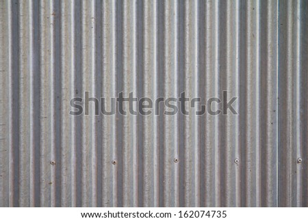 a photo of old corrugated metal for  texture or background - stock photo