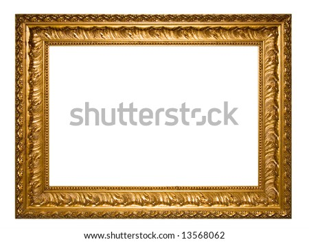 A photo of picture frame, isolated on white - stock photo