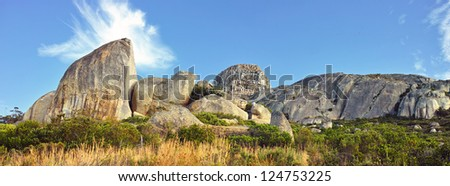 A photo of  Rock formations in Africa - stock photo