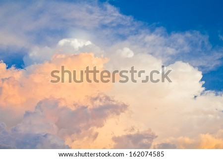 a photo of sky with clouds and sunlight - stock photo