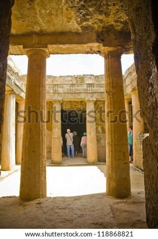 A photo of the Tombs of the Kings (Paphos) Cypres - stock photo