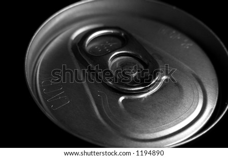 A photo of the top of a can - stock photo