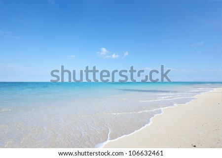A photo of tropical beach - Oahu, Hawaii - stock photo