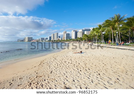 A photo of Waikiki - Beach of Honolulu, Hawaii