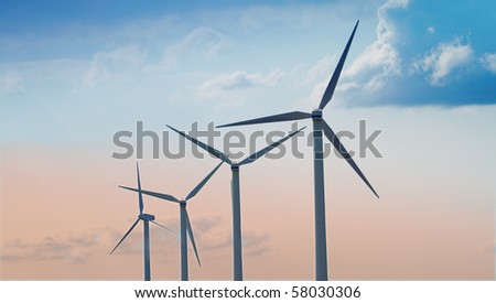 A photo of windmill - alternative energy source - stock photo